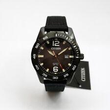 Citizen Men's BI1045-05E Black Color Quartz Nylon Strap Day Watch