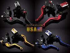 US Universal Brake&Clutch Master Cylinder Reservoir Levers Fit Kawasaki ZX6R 9R