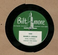 78 rpm King Oliver's Creole Jazz Band Biltmore 1050 in E (Louis Armstrong)