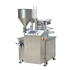 Automatic Rotary Plastic Type Cup Filling and Sealing Machine for Yogurt by Sea