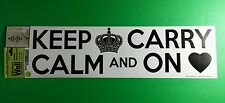 MAIN STREET KEEP CALM AND CARRY ON SUPERNATURAL REMOVEABL LARGE WALL ART STICKER