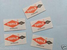 5 Blades - Topaz Stainless Double Edge Razor Blades  - Free Shipping