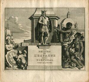 Alphonsus I Lusit Rex. Engraving By Pieter Van Der Aa, 1707
