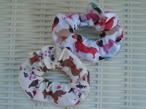 Sausage Dog Dogs Dachshund Dachshunds Hair Scrunchies Scrunchy Tie Band Gift New