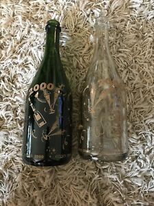 Champagne Bottles, New Years Eve 2000, The Millennium. Y2K Worlds End. Wine.