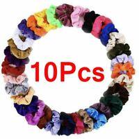 Hair Scrunchies 10Pc Elastic Velvet Hair Bands Scrunchy Hair Ties Ropes Scrunchy