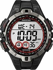 Timex T5K423, Men's Sport Digital Black Resin Watch, Indiglo, Day/Date, T5K4239J