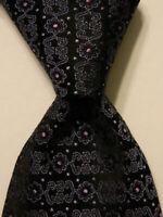 CERRUTI 1881 Men's 100% Silk Necktie FRANCE Luxury Geometric Blue/Purple EUC