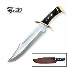 """Timber Rattler WESTERN OUTLAW Bowie - 16 1/2"""" Hunting Knife - FULL TANG!"""