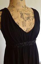 USA  CA DESIGNER DRESS - VELVET BLACK   SIZE Uk 10 USA 5-6 ( HARVY NICHOLS)
