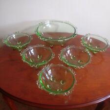 Vintage Uranium Glass Trifle / Dessert Bowls.
