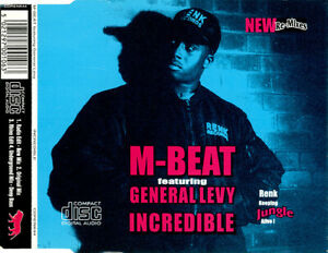 M-Beat Featuring General Levy – Incredible (New Re-Mixes) 4-Track CD Single