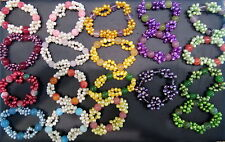 Quartz Beaded Costume Bracelets without Metal