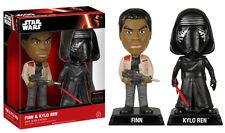 Funko Star Wars Episode 7 Finn & Kylo Ren 2 Pack Wacky Wobbler Bobble Head Set