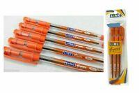 200 Linc Glycer Fine Ball Pen Orange  0.7mm  Rubber Grip Smooth write