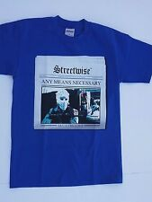 streetwise clothing men's, Any Means Necessary t shirt,shirt  blue,black,and red