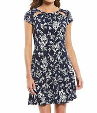 MICHAEL Michael Kors Grand Petani Reef Print Fit & Flare Dress L