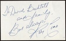 Perry Como Signed Index Card Signature Autographed AUTO