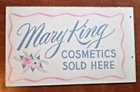 """MARY KING Cosmetics Double-Sided Wooden Advertising Sign 20"""" x 12"""""""