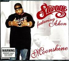 SAVAGE FEATURING AKON MOONSHINE 3 TRACK CD - EXCELLENT - VGC