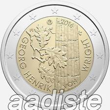 2 EURO 2016 FINLANDIA FINNLAND FINLAND - GEORG HENRIK VON WRIGHT - FDC UNC