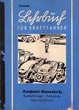 """Böning,H.. """"Ein Lehrbuch für die Führerscheinprüfung"""" Band 1 - Verkehr 1940/41"""