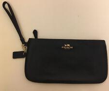 COACH Large Wristlet Leather- Black