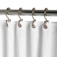Zenna Home  Chrome  Metal  Double Roller  Shower Curtain Rings  12 pk