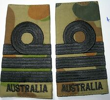 a pair of Camouflage SRI COMMANDER Epaulettes -  Royal Australian Navy New