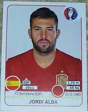 358 Jordi Alba SPAIN ESPANA Panini Euro 2016 France sticker