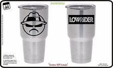 Lowrider Man Custom (Set of 2) Vinyl DECAL for Yeti Tumbler Wicked Cholo Show