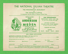 "Judith Anderson ""MEDEA"" Bruce Gordon / Frederic Worlock 1949 Washington Flyer"