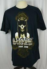 Fruit Of The Loom Men's T-Shirt Size XL Blackest Of The Black Concert Tour 2006