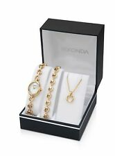 Sekonda Ladies Watch Bracelet And Pendant Gift Set 4937G RRP £79.99