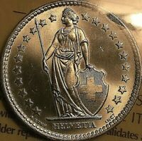 1964 SWITZERLAND SILVER 2 FRANCS COIN - ICCS Certified MS-65 Uncirculated Gem