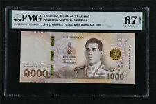 2018 Thailand Bank of Thailan 1000 Baht Pick#139a PMG 67 EPQ Superb Gem UNC