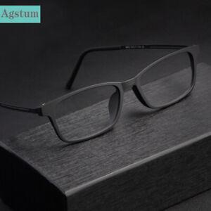 Agstum Titanium Glasses Frame Men Women Matte Black Eyeglasses Ultra-light