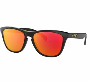 Oakley Frogskins Sunglasses Valention Rossi Collection Polished Black Prizm Ruby