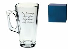Personalised Engraved Tall Latte Mug 380ml - Engrave any message