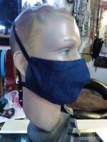 Masque DE PROTECTION  EN tissu Vintage 1970 DENIM ELASTIQUE TOUR DE TETE