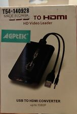 USB 2.0 to HDMI HD Video Leader Converter for HDTV, Support Full HD 1080P