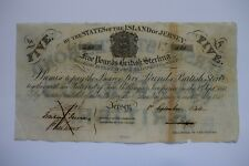 More details for states of the island of jerseey five £5 pounds bond 1st sept 1840 no421 uncommon