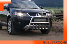 MITSUBISHI OUTLANDER 06-09 TUBO PROTEZIONE MEDIUM BULL BAR INOX STAINLESS STEEL!