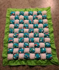 Baby Boy Puff/Biscuit Quilt, Tummy Time Quilt