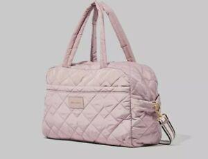 Marc Jacobs Quilted Nylon Medium Weekender Bag Bark Brand New M0017015-920