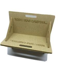Mini Flat Pack Fire Pit BBQ Novelty Desktop Card Holder Gift Laser Engraved
