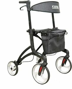 Mobility Aid Walking Rollator for Tall People 4 Wheel Seat Backrest Compartment