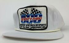 Vintage 1989 Indianapolis 500 Trucker Snapback Cap Hat Indy 500 Snap Back