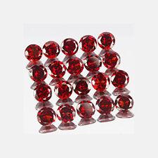Un paio di 4mm Round-FACET Deep-Rosso Naturale Mozambico Granato Pietre Preziose £ 1 NR!