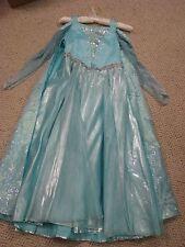 NEW Disney Store Elsa Frozen Light Up Dress & Cape with dress bag sz 8